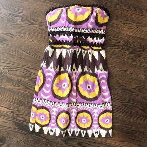 Milly ikat linen strapless sundress size 4